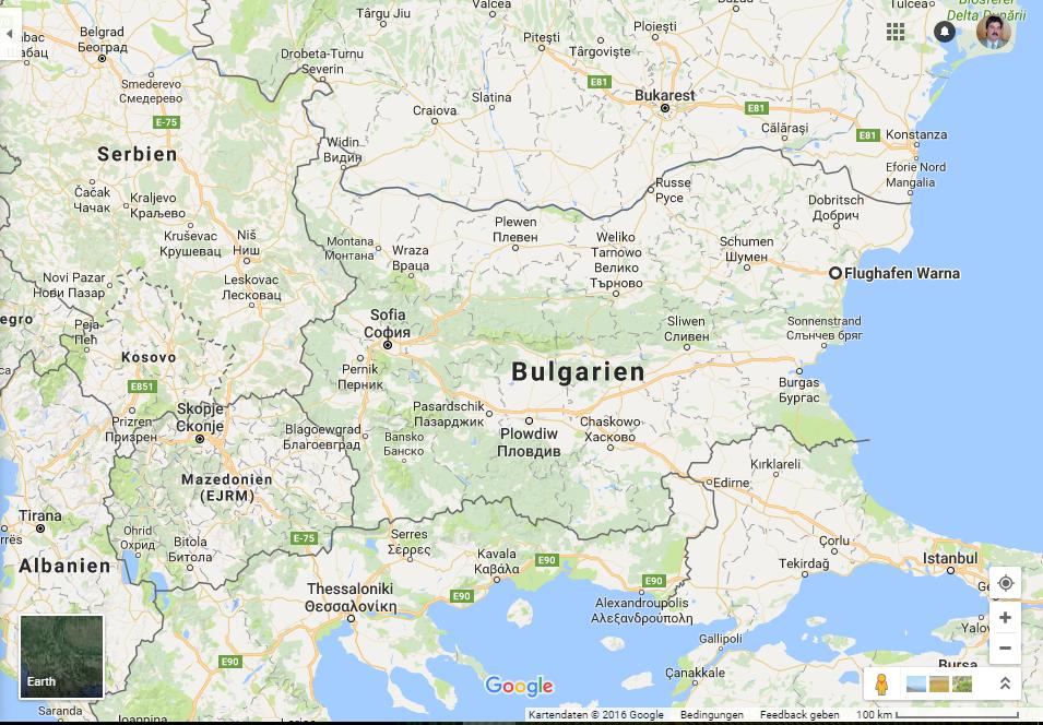 Polenmärkte Karte.Bulgarien Alexander Schütze